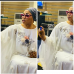 Billionaire businesswoman Folorunso Alakija spotted anointing her church members 14
