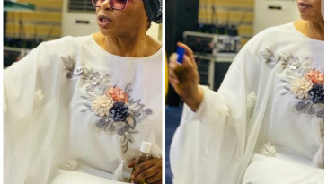 Billionaire businesswoman Folorunso Alakija spotted anointing her church members 7